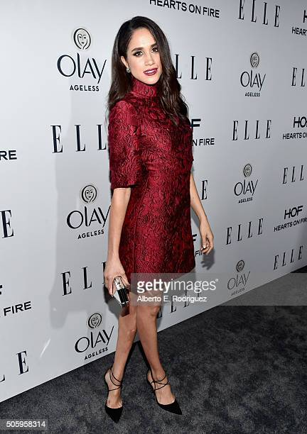 Actress Meghan Markle attends ELLE's 6th Annual Women In Television Dinner at Sunset Tower Hotel on January 20, 2016 in West Hollywood, California.