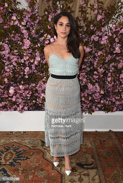 Actress Meghan Markle attends Glamour and L'Oreal Paris Celebrate 2016 College Women Of The Year at NoMad Hotel Rooftop on April 27 2016 in New York...