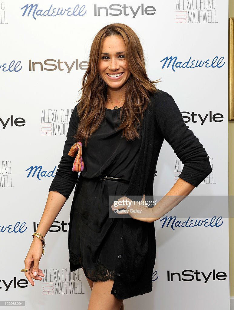 Actress Meghan Markle attends Madewell, Alexa Chung & InStyle celebrate the launch of The Alexa Chung For Madewell Fall 2011 Collection at Chateau Marmont on September 21, 2011 in Los Angeles, California.