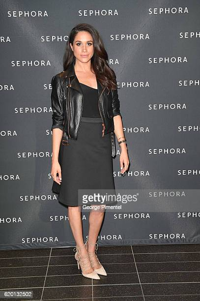 Actress Meghan Markle attends Sephora Unveils Toronto Eaton Centre Remodel at Toronto Eaton Centre on May 19 2016 in Toronto Canada