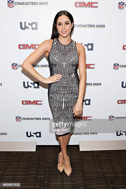 Actress Meghan Markle attends the 3rd Annual NFL Characters Unite at Sports Illustrated on January 30 2014 in New York City