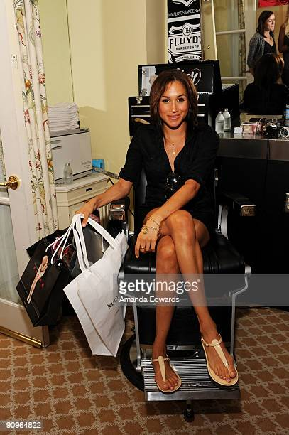 Actress Meghan Markle attends the DPA preEmmy Gift Lounge at the Peninsula Hotel on September 18 2009 in Beverly Hills California