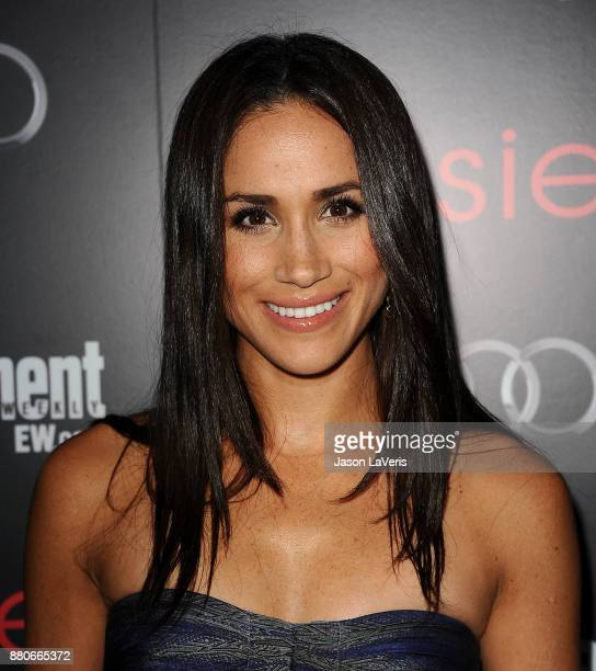Actress Meghan Markle attends the Entertainment Weekly Screen Actors Guild Awards preparty at Chateau Marmont on January 26 2013 in Los Angeles...