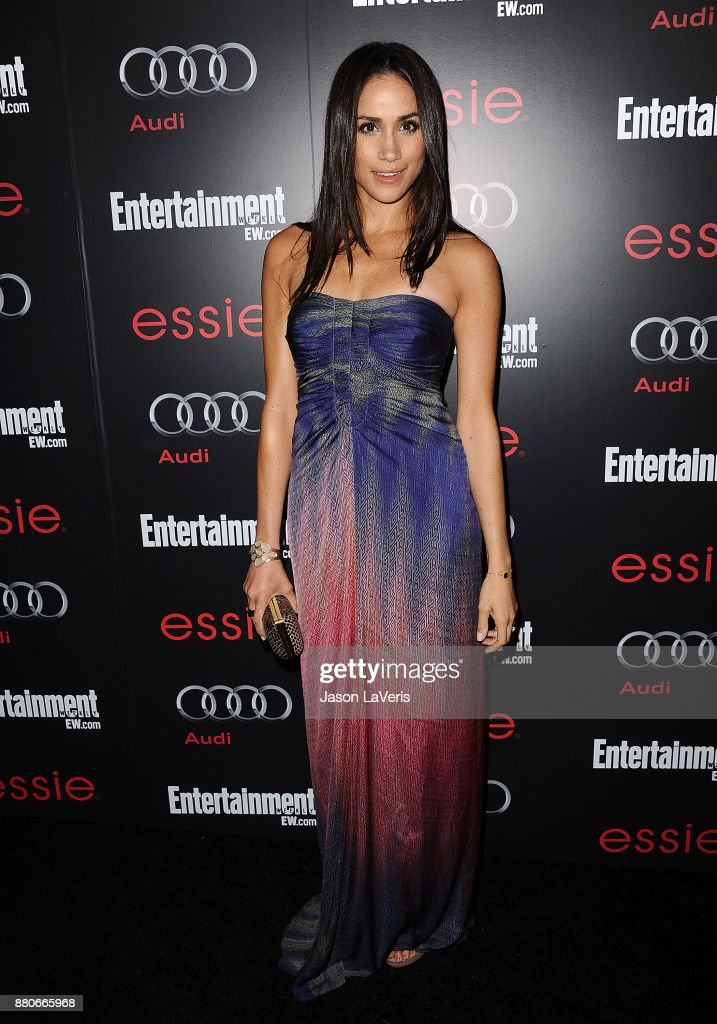 Actress Meghan Markle attends the Entertainment Weekly Screen Actors Guild Awards pre-party at Chateau Marmont on January 26, 2013 in Los Angeles, California.