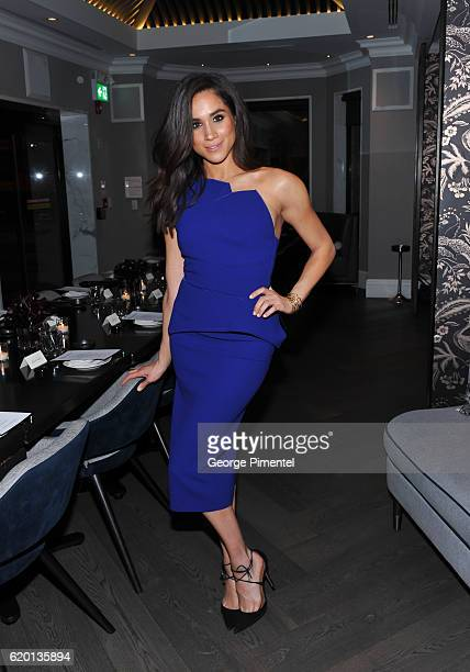 Actress Meghan Markle attends the Equinox Yorkville Dinner held at Kasa Moto on November 23 2015 in Toronto Canada