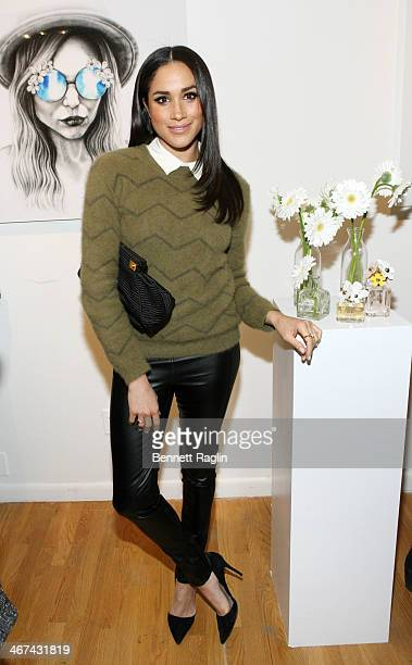 Actress Meghan Markle attends the Marc Jacobs Daisy Chain Tweet Pop Up Shop Party at Marc Jacobs Pop Up Shop on February 6 2014 in New York City
