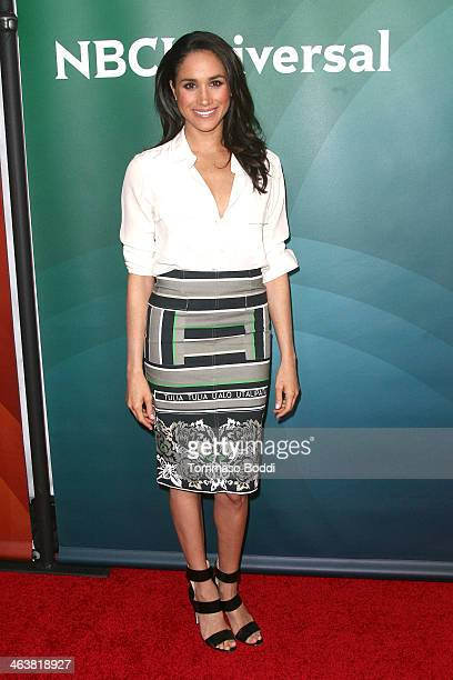 Actress Meghan Markle attends the NBC/Universal 2014 TCA Winter Press Tour held at The Langham Huntington Hotel and Spa on January 19 2014 in...