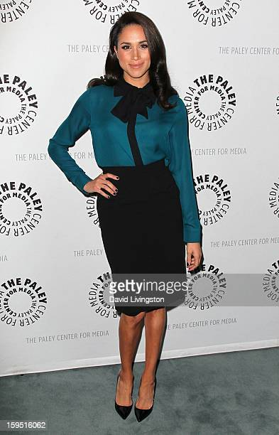 Actress Meghan Markle attends The Paley Center for Media's presentation of An Evening With 'Suits' at The Paley Center for Media on January 14 2013...