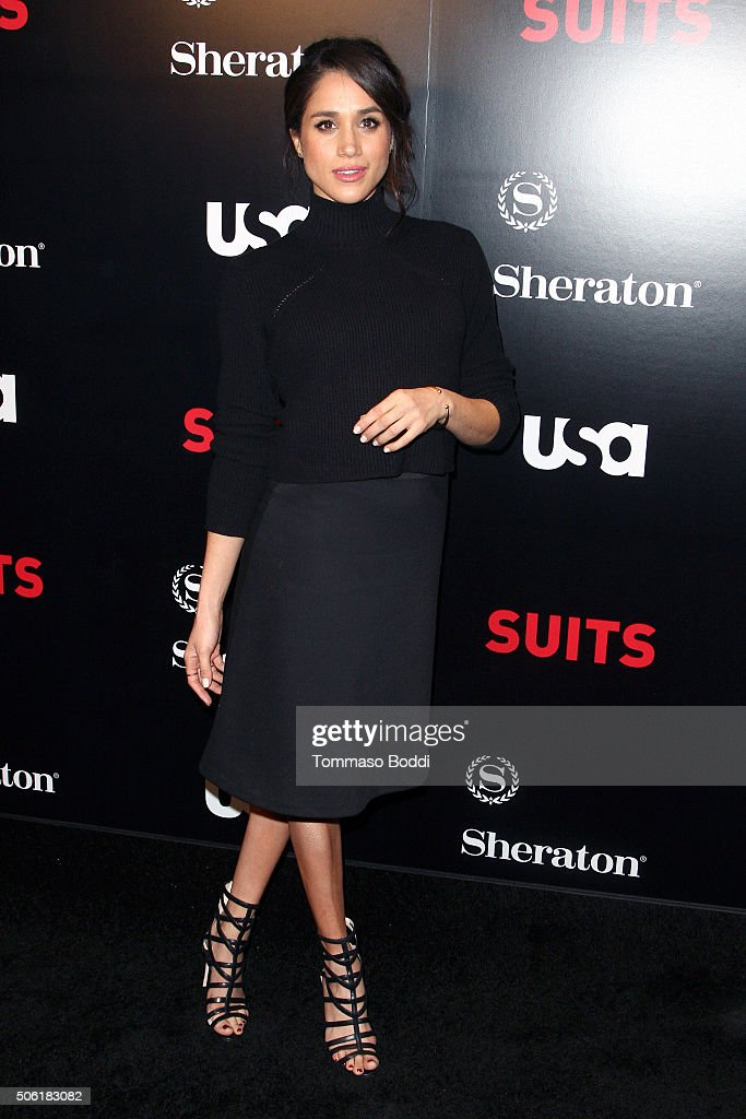 Actress Meghan Markle attends the premiere of USA Network's 'Suits' season 5 held at Sheraton Los Angeles Downtown Hotel on January 21, 2016 in Los Angeles, California.