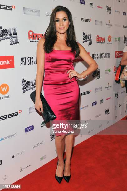 Actress Meghan Markle attends the Rising Stars 2012 Producers Ball during the 2012 Toronto International Film Festival on September 5 2012 in Toronto...