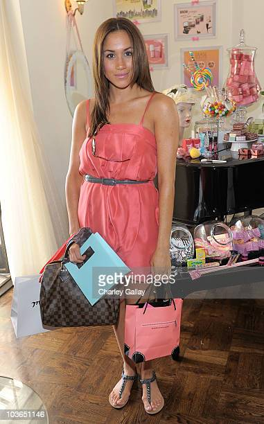 Actress Meghan Markle attends the Some Kinda Gorgeous Style and Beauty Lounge at the Chateau Marmont on August 26 2010 in Los Angeles California