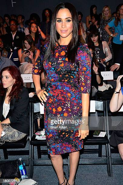 Actress Meghan Markle attends the Tracy Reese show during Spring 2014 MercedesBenz Fashion Week at The Studio at Lincoln Center on September 8 2013...