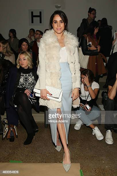 Actress Meghan Markle attends Wes Gordon runway show during MADE Fashion Week Fall 2015 at Milk Studios on February 13 2015 in New York City
