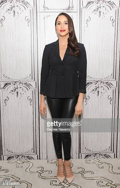 Actress Meghan Markle discusses her role in the very popular Suits during AOL Build at AOL Studios In New York on March 17 2016 in New York City