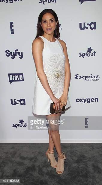 Actress Meghan Markle from Suits attends the 2014 NBCUniversal Cable Entertainment Upfronts at The Jacob K Javits Convention Center on May 15 2014 in...