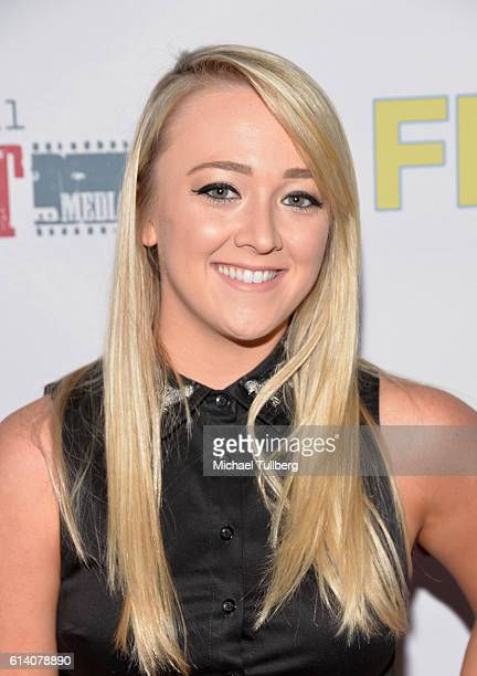 Actress Meghan McCarthy attends the premiere of Digital Riot Media's 'FML' at iPic Theaters on October 11 2016 in Los Angeles California