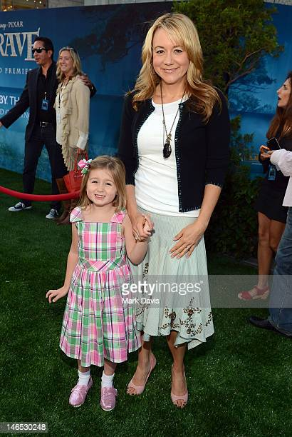 Actress Megyn Price arrives at the premiere of Brave during the 2012 Los Angeles Film Festival at Dolby Theatre on June 18 2012 in Hollywood...