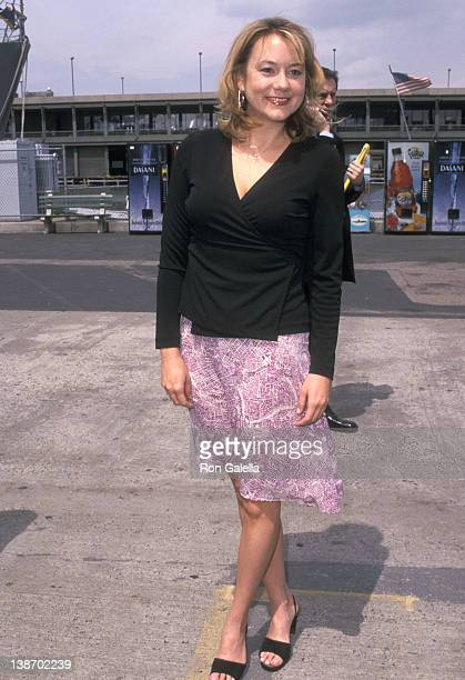 Actress Megyn Price attends the FOX Television Upfront Party on May 17 2001 at USS Intrepid Pier 86 in New York City