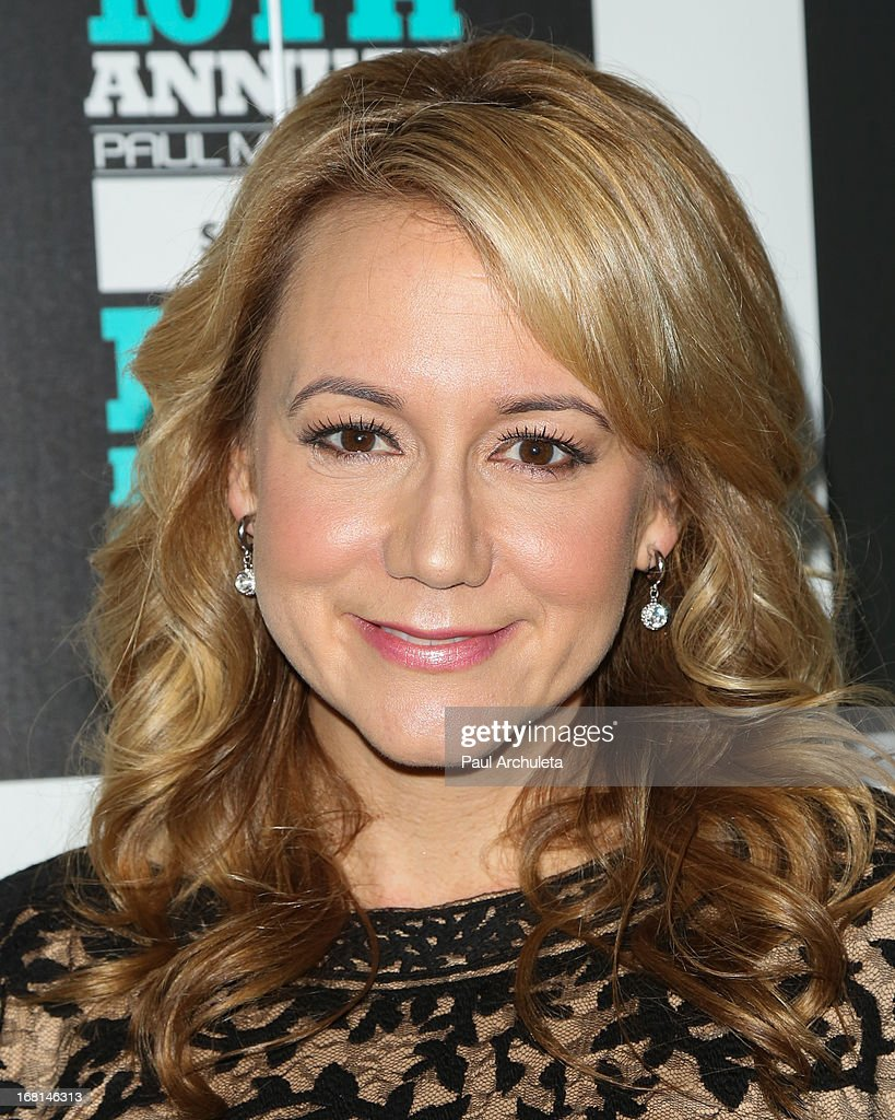 Actress Megyn Price attends the Paul Mitchell schools' 'FUNraising Campaign' gala at The Beverly Hilton Hotel on May 5, 2013 in Beverly Hills, California.