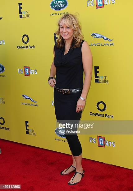 Actress Megyn Price attends the PS ARTS Express Yourself 2014 at Barker Hanger on November 16 2014 in Santa Monica California