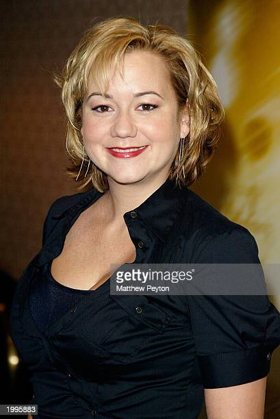 Actress Megyn Price from the show 'Grounded For Life' attends the 'WB Upfront' preview of the 2003/2004 television lineup at the Sheraton New York...