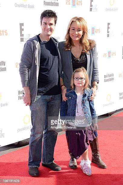 Actress Megyn Price , her husband Edward Cotner and their daughter Grace Cotner arrive at the 14th Anniversary of the P.S. Arts Express Yourself Gala...