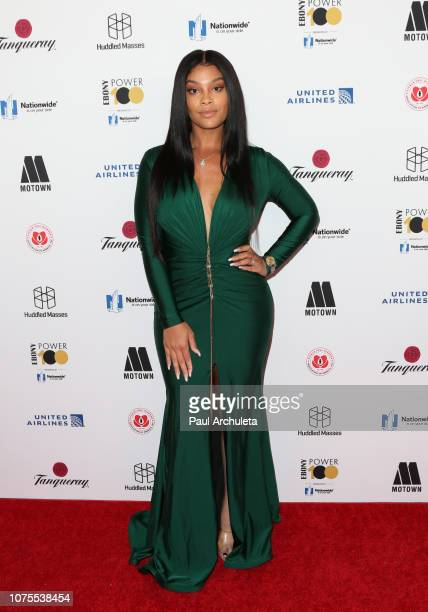 Actress Mehgan James attends Ebony Magazine's Ebony's Power 100 Gala at The Beverly Hilton Hotel on November 30 2018 in Beverly Hills California