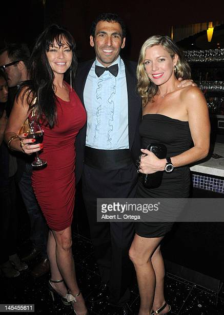 Actress Meilani Paul producer Steve Kriozere and actress Leilani Sarelle at the AfterParty For Cinemax's Femme Fatales 2nd Season held at ArcLight...