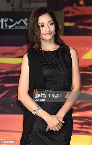 Actress Meisa Kuroki attends 'Pompeii' premiere at Roppongi Hills on May 26 2014 in Tokyo Japan