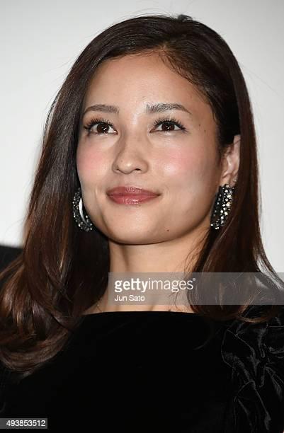 Actress Meisa Kuroki attends the stage greeting for 'You're Not You' Stage Greeting during the Tokyo International Film Festival 2015 at Shinjuku...