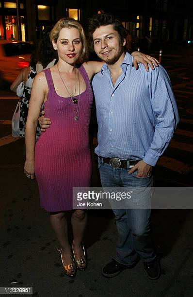 Actress Meital Dohan and Matthew Isaacs attend Stitching Opening Night Party on June 25 2008 in New York City