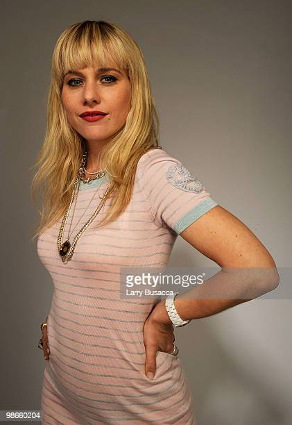 Actress Meital Dohan from the film Monogamy attends the Tribeca Film Festival 2010 portrait studio at the FilmMaker Industry Press Center on April 25...