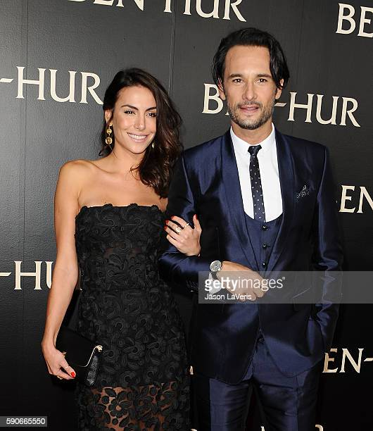 Actress Mel Fronckowiak and actor Rodrigo Santoro attend the premiere of 'BenHur' at TCL Chinese Theatre IMAX on August 16 2016 in Hollywood...