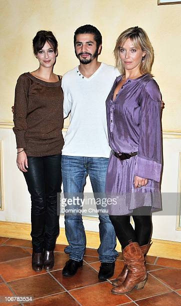 Actress Melanie Bernier Actor Aymen Saidi and Actress Marie Guillard pose for the photocall of ''L'Assaut' at hotel Renoir during the Festival of...