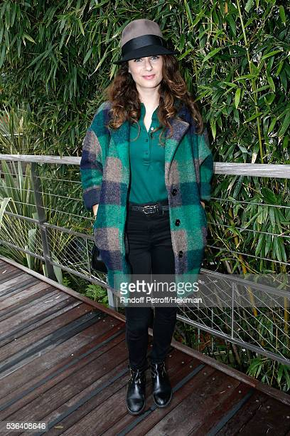 Actress Melanie Bernier attends Day Eleven of the 2016 French Tennis Open at Roland Garros on June 1 2016 in Paris France