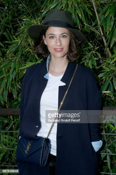 ACtress Melanie Bernier attends the 2017 French Tennis Open Day Ten at Roland Garros on June 6 2017 in Paris France
