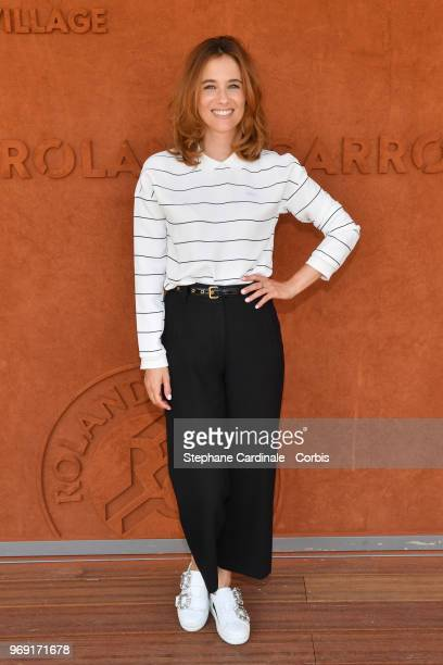 Actress Melanie Bernier attends the 2018 French Open Day Twelve at Roland Garros on June 7 2018 in Paris France