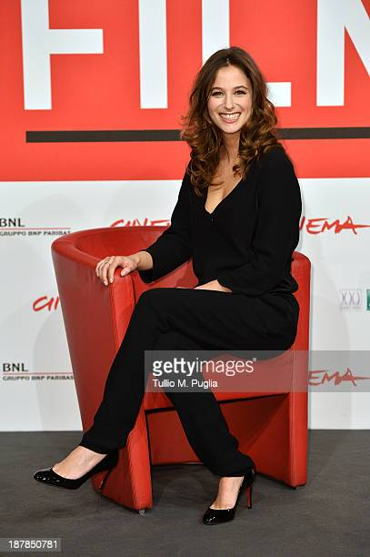 Actress Melanie Bernier attends the 'Au Bonheur Des Ogres' Photocall during the 8th Rome Film Festival at the Auditorium Parco Della Musica on...