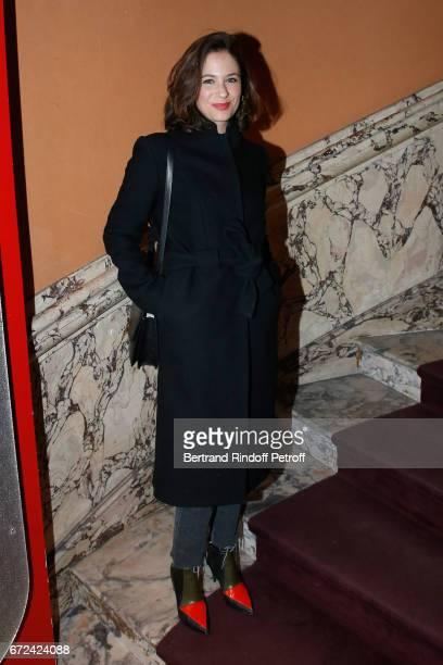Actress Melanie Bernier attends the 'Jour J' Paris movie Premiere on April 24 2017 in Paris France