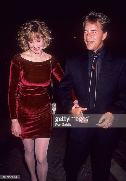 Actress Melanie Griffith and actor Don Johnson leave for the 'Passion' New York City Premeire at the Museum of Modern Art on September 15 1991 from...