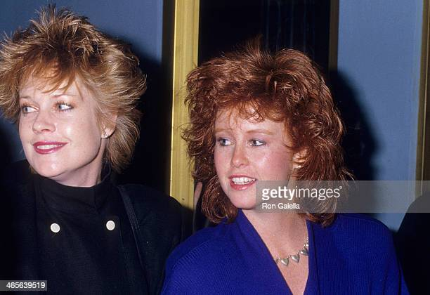 Actress Melanie Griffith and halfsister Tracy Griffith attend 1988 Presidential Campaign Democratic Nominee Gary Hart's Campaign Benefit on April 15...