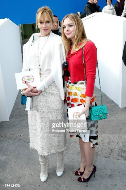 Actress Melanie Griffith and her daughter Stella Banderas attend the Chanel show as part of the Paris Fashion Week Womenswear Fall/Winter 20142015 on...