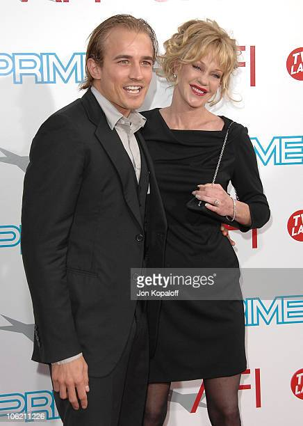 Actress Melanie Griffith and Jesse Wayne Johnson arrive at the 37th Annual AFI Lifetime Achievement Awards at Sony Pictures Studios on June 11, 2009...