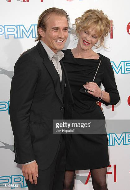 Actress Melanie Griffith and Jesse Wayne Johnson arrive at the 37th Annual AFI Lifetime Achievement Awards at Sony Pictures Studios on June 11 2009...