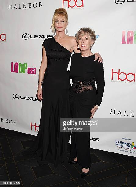 Actress Melanie Griffith and mother actress Tippi Hedren attend the 2nd Annual Hollywood Beauty Awards benefiting Children's Hospital Los Angeles at...