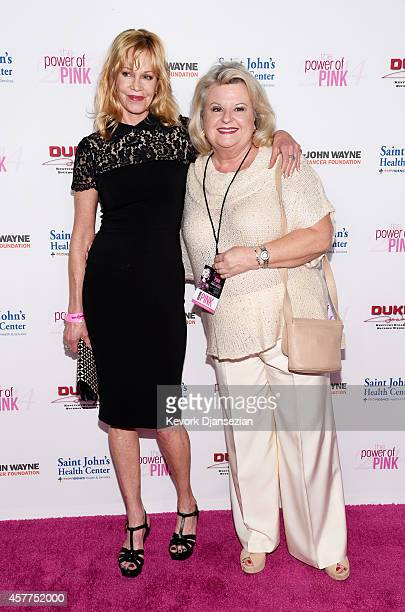 Actress Melanie Griffith and Rosemary Hygate, a cancer survivor, attend Power of Pink 2014 Benefiting the Cancer Prevention Program at Saint John's...