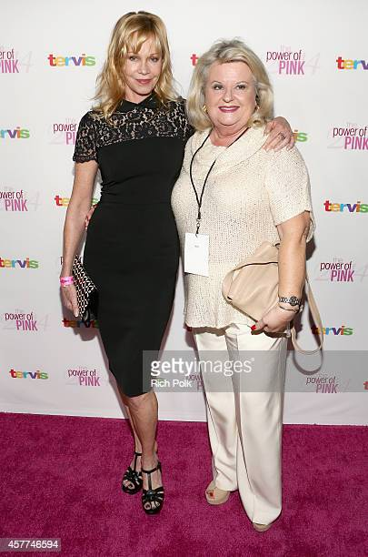 Actress Melanie Griffith and Rosemary Hygate attend Power of Pink 2014 Benefiting the Cancer Prevention Program at Saint John's Health Center at...