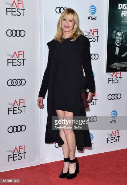 Actress Melanie Griffith arrives at the AFI FEST 2017 presented by Audi screening of 'The Disaster Artist' at TCL Chinese Theatre on November 12 2017...