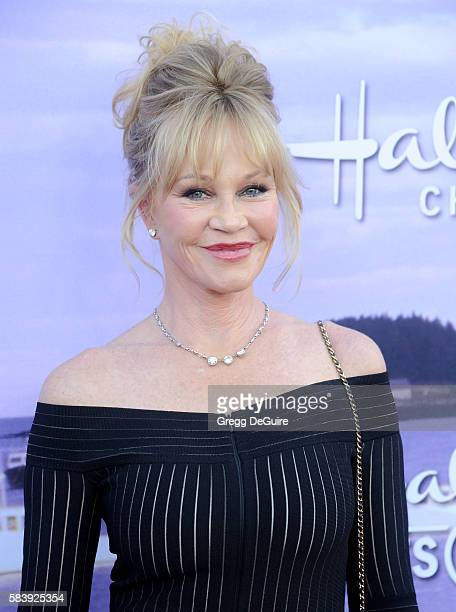 Actress Melanie Griffith arrives at the Hallmark Channel and Hallmark Movies and Mysteries Summer 2016 TCA Press Tour Event on July 27 2016 in...