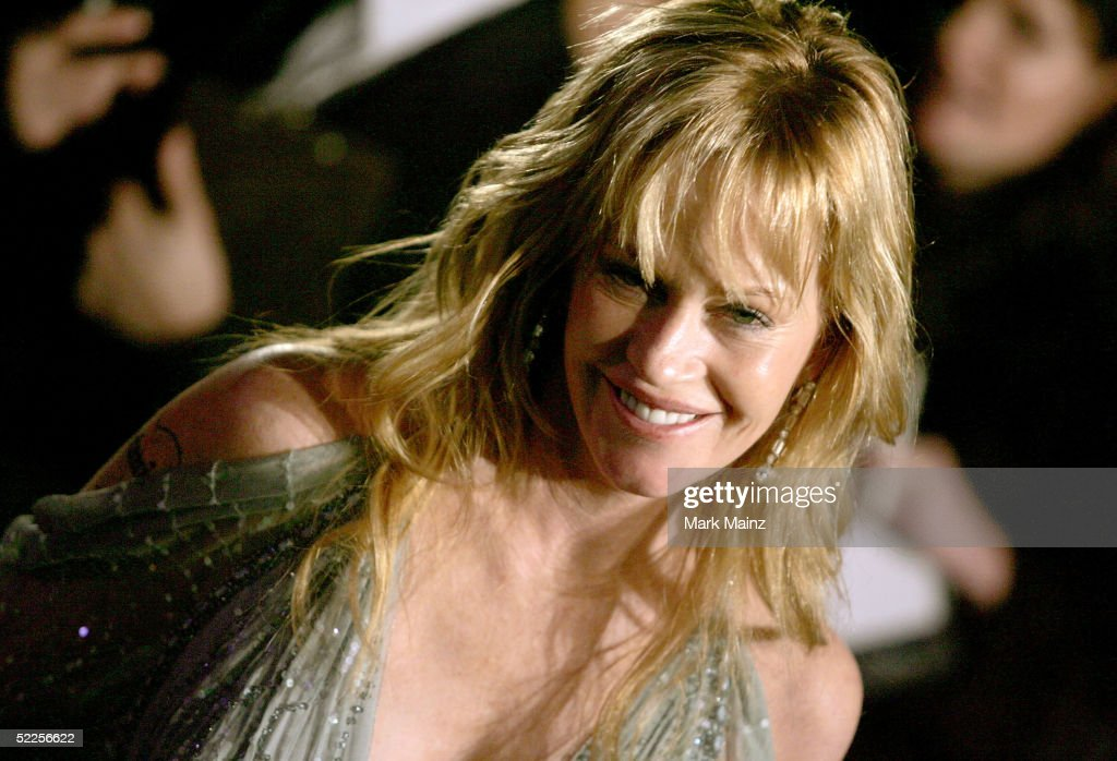 Actress Melanie Griffith arrives at the Vanity Fair Oscar Party at Mortons on February 27, 2005 in West Hollywood, California.